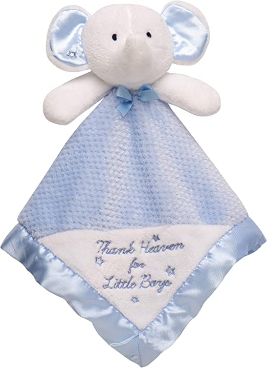 5 Piece Newborn Elephant Design Plush Rattle Blanket Door Hanger Baby Gift Set