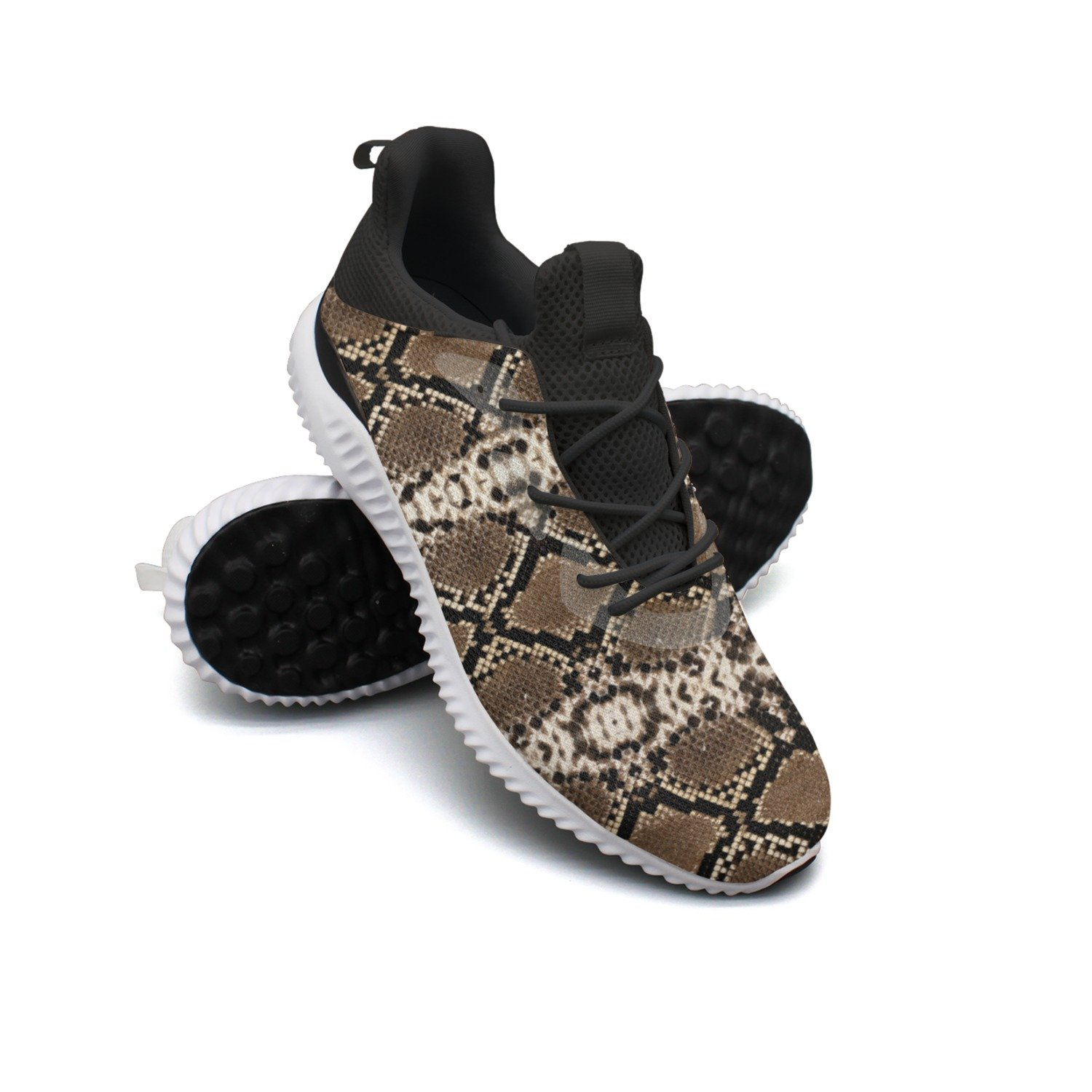 Black Snake Skin Leisure Sports Running Shoes Men Net Jogger Cute