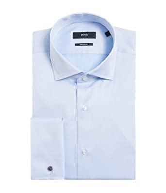 c6c41f95d Image Unavailable. Image not available for. Color: Hugo Boss Men's  'Gardner' Light Blue Regular Fit French Cuff Cotton Dress Shirt 15.5