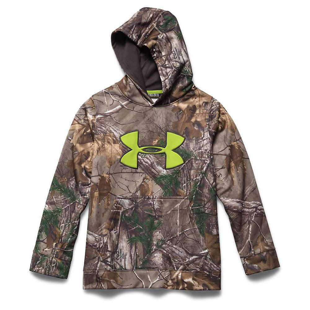 Under Armour Youth Scent Control Fleece Hoody Realtree Ap Xtra / Maverick Brown Medium by Under Armour