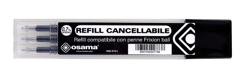 RISCRIVI REFILL gel cancellabile kit 3 pezzi rosso Osama OW 240874