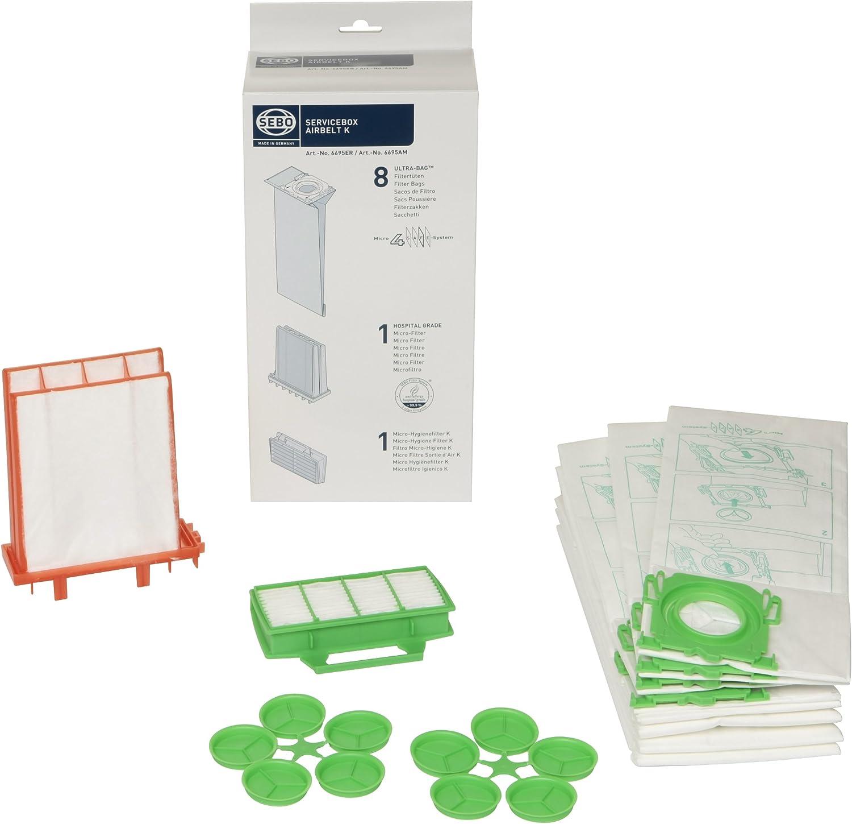 Sebo K1 K3 ECO Pet Premium Service box sacchetti e filtri 6695ER Genuine PART