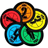 """Hot Shots 7.5"""" Basketball Training Markers, Pack of 5 by Crown Sporting Goods"""