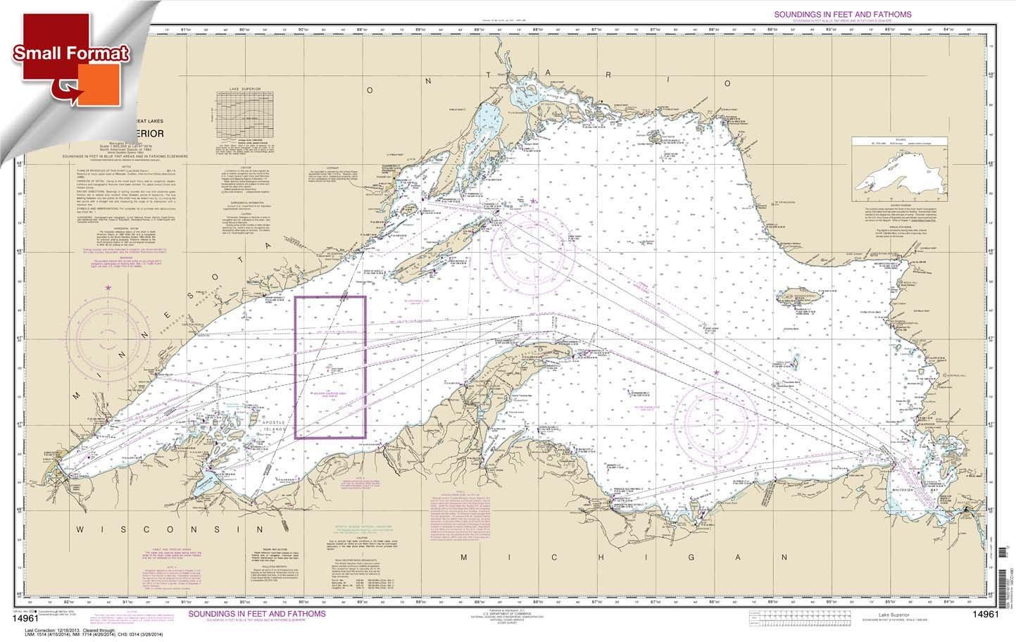 Amazon.com: Paradise Cay Publications NOAA Chart 14961: Lake ...