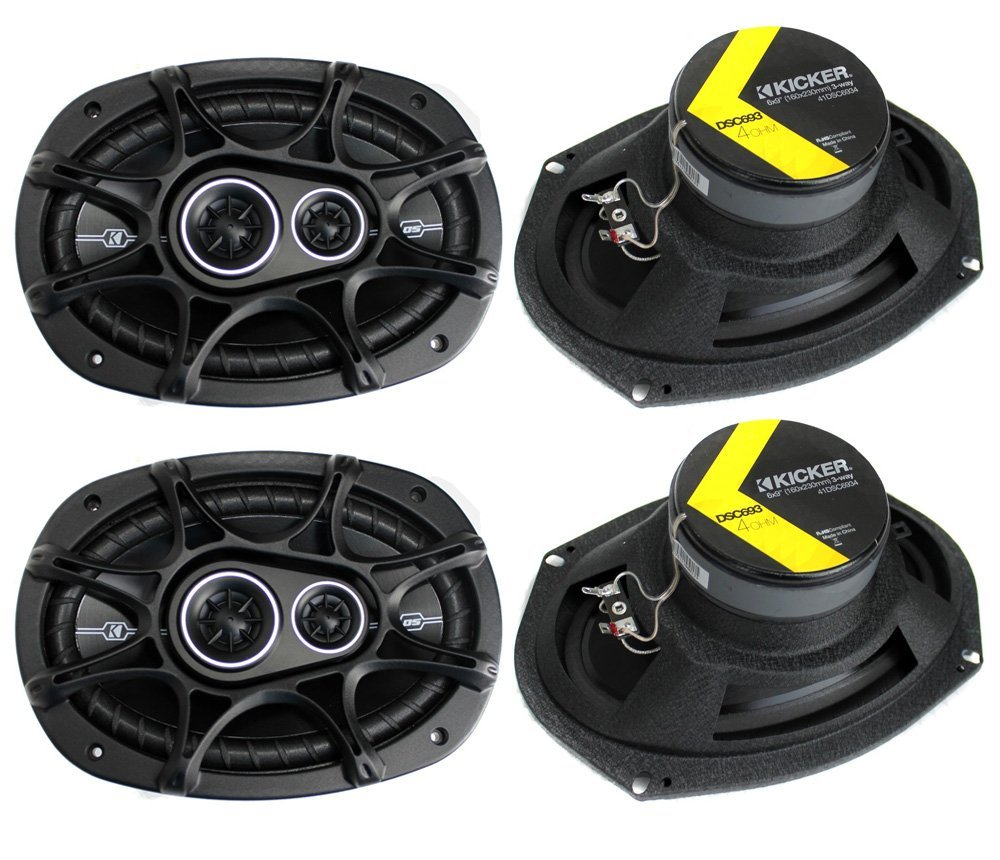 4) New Kicker 41DSC6934 D-Series 6x9'' 720 Watt 3-Way Car Audio Coaxial Speakers by KICKER