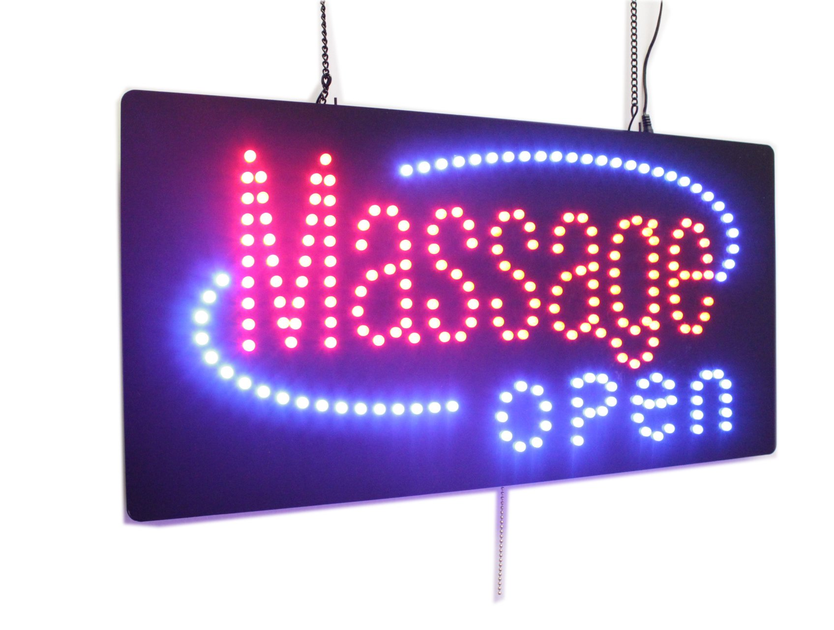 Massage Open Sign, Super Bright High Quality LED Open Sign, Store Sign, Business Sign, Windows Sign
