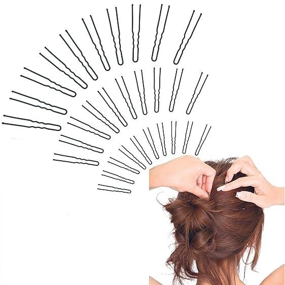 Jumuu 3 Assorted Size Hair Bobby Pins Hair Clip Black U Shape Hair