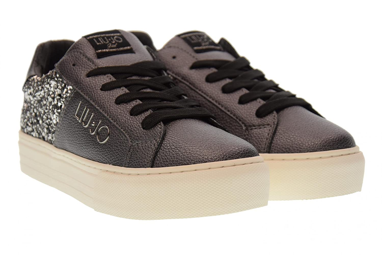 LIU-JO GIRL Scarpe Donna Sneakers Basse Piattaforma UM23268 Grigio Glitter  Taglia 40 Grigio Glitter  Amazon.it  Scarpe e borse cf0a5a2f1fd