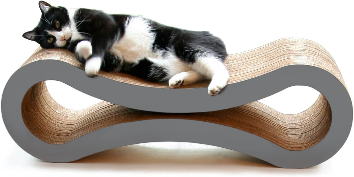 PetFusion Ultimate Cat Scratcher Lounge (Slate Gray). [Superior Cardboard & Construction, Significantly outlasts Cheaper alternatives] : Pet Beds : Pet Supplies