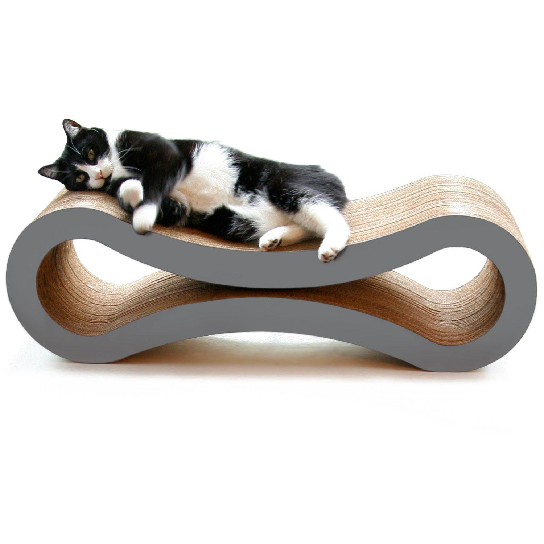 PetFusion Griffoir/zone de détente ultime pour chat (86x 27x 27cm) [Carton et construction de qualité supérieure]. Attention aux versions moins chères. LLC. PF-CL1