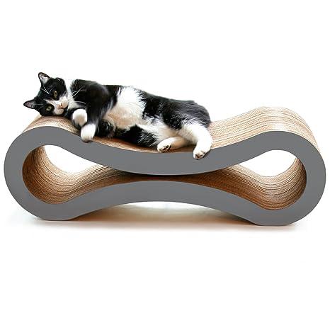 El Mejor Lounge para Arañazos de Gatos de PetFusion. [Cartón y Construcción Superiores]