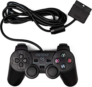 OSTENT Wired Analog Controller Gamepad Joystick Joypad for Sony Playstation PS2 PS1 PS One PSX Console Dual Shock Vibration Video Games