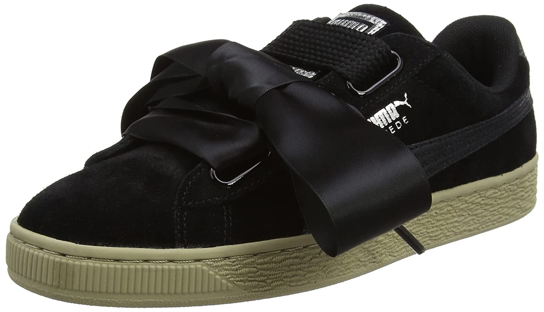 Puma Suede Heart Safari, Zapatillas para Mujer 38 EU|Negro (Black-black)