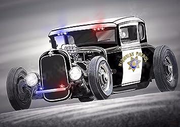 Amazon.com: Hot Rod tela de coches clásico Gamuza Rolled ...