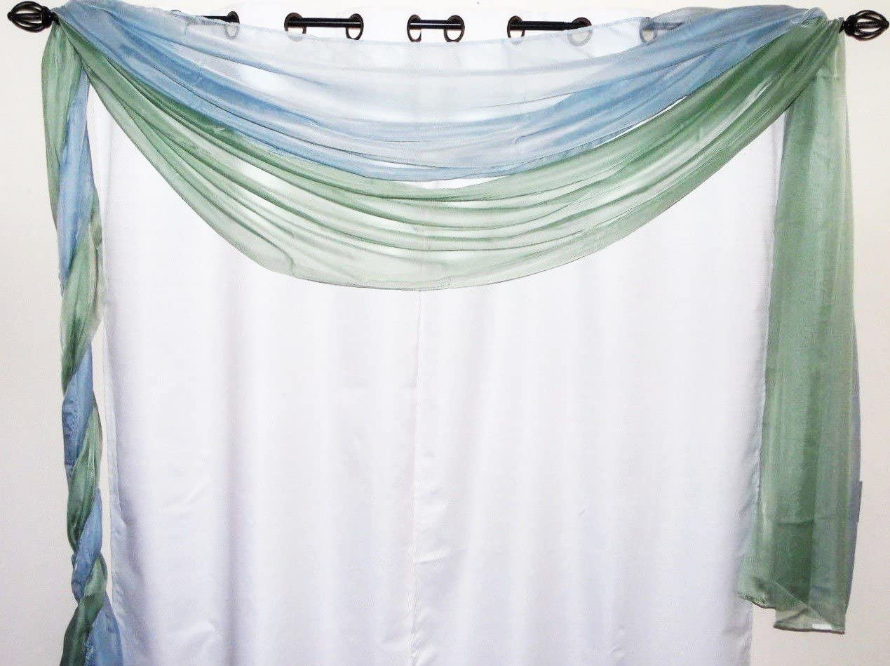 SKL Home by Saturday Knight Ltd. Aviary Curtain Tier Pair, Pastels, 54 inches x 36 inches