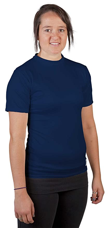 2a1d0c243c1 Stromgren Women s Moisture Wicking Short Sleeve Compression Shirt (Navy