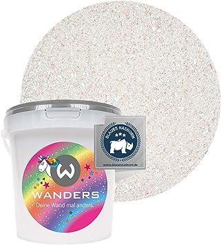 Wanders24 saliva de unicornio (1 litro) pintura de efecto, pintura-pared, pintura de pared brillo, pintura con brillo, efecto de brillo, glitter