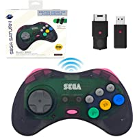 Retro-Bit Official Sega Saturn 2.4 GHz Wireless Controller 8-Button Arcade Pad for Sega Saturn, Sega Genesis Mini…