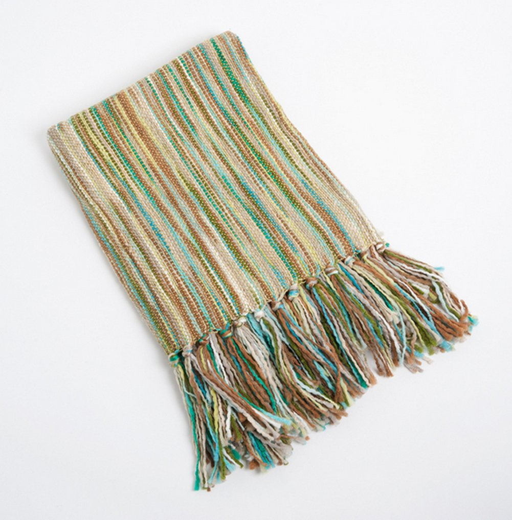 Woven Contemporary Throw Blanket with friniges B00VU27WDA