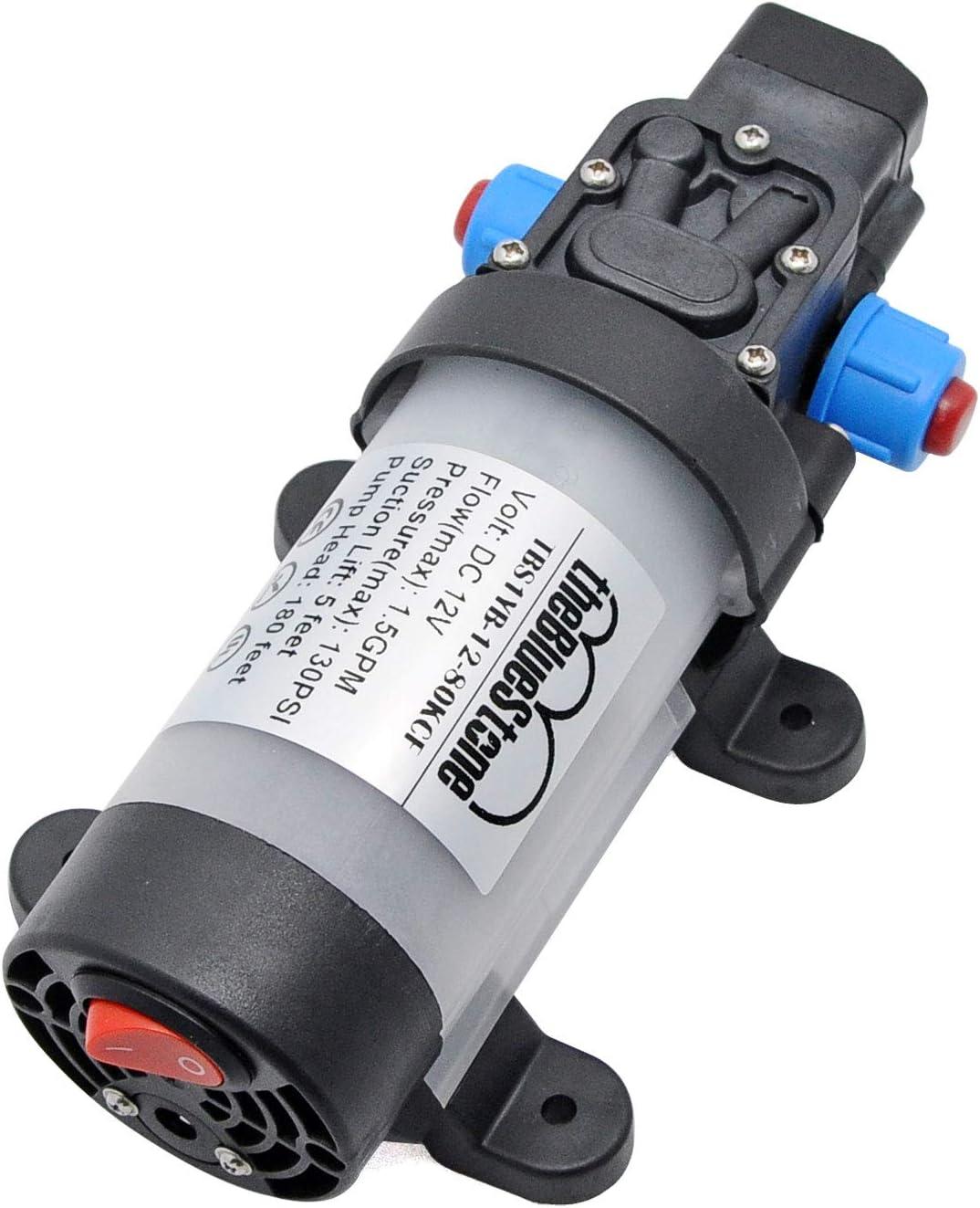 medicina e industria bomba de agua de diafragma resistente al desgaste Bomba de diafragma DC12V para instrumentos y equipos bajo nivel de ruido micro bomba de diafragma autocebante 0.4-1L // min