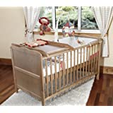 Cot Bed - Sprung Mattress w/Cot Top Changer & Teething Rails - Country Pine