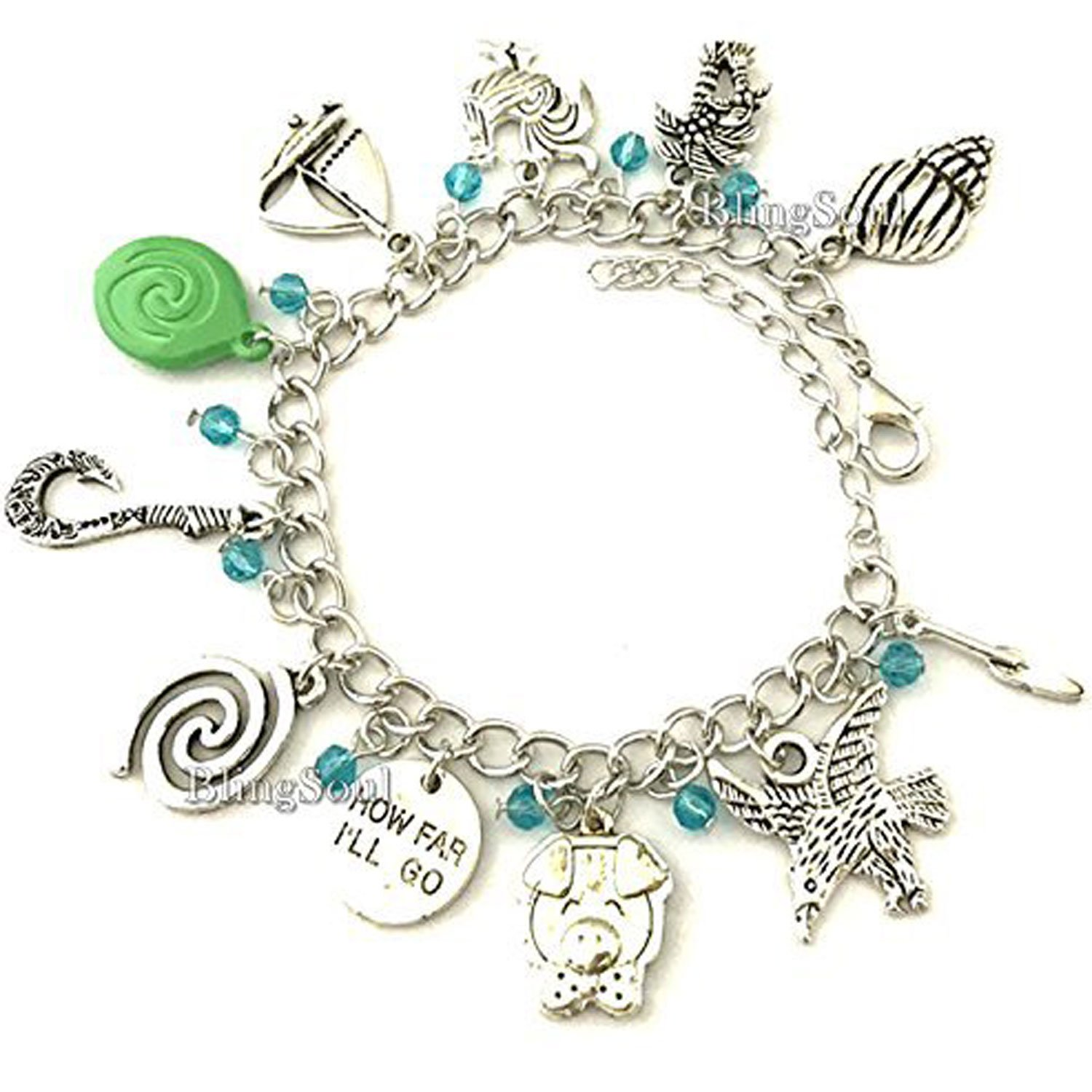 BlingSoul Maui Moana Charm Bracelet - Maui Hook Jewelry Moana Gift Merchandise for Women by BlingSoul (Image #4)