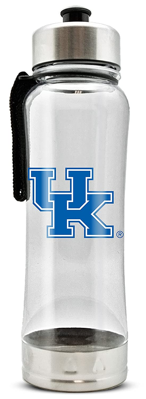 NCAA Kentucky Wildcats 20oz Clip-On Clear Plastic Water Bottle Duck House Sports LWB