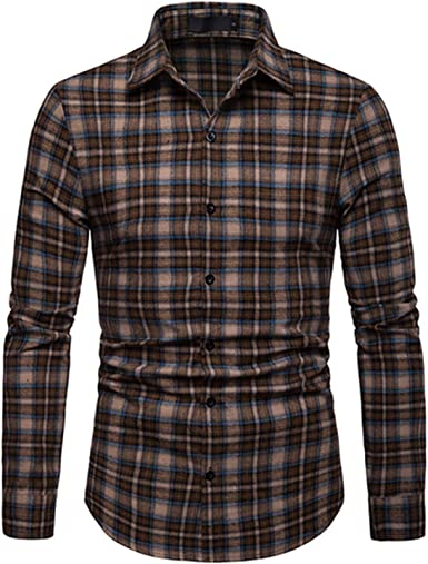 leving Men Plaid Shirts New Mens Dress Shirts Long Sleeve Slim Casual Black White Social Male Clothes Chemise Homme 25