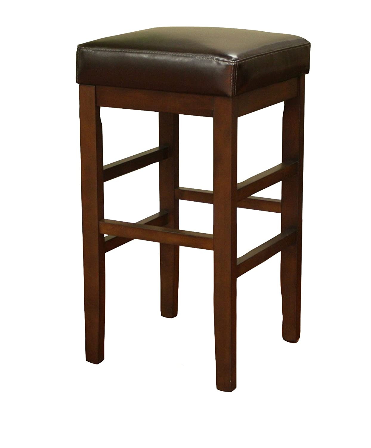 Amazon: American Heritage Billiards Empire Extra Tall Height Stool,  Brown: Kitchen & Dining