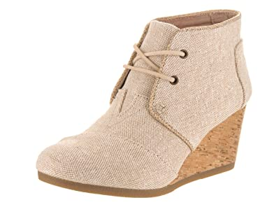 79f4f11d19ecc Image Unavailable. Image not available for. Color: TOMS Women's Desert  Wedge Natural Metallic Linen ...