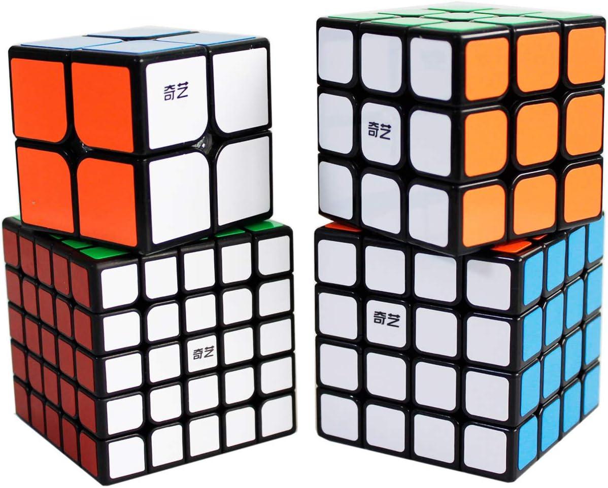 Gobus Speed Cube Bundle de 2x2 3x3 4x4 5x5 Cubo mágico Puzzle ...