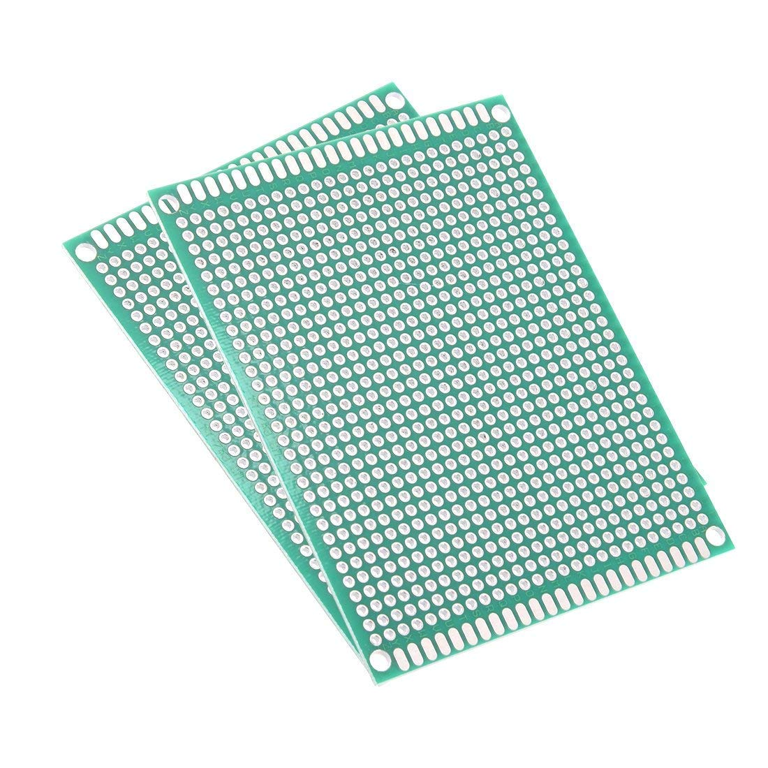 AUXcell 8x12cm Double Sided Universal Printed Circuit Board for DIY Soldering 10pcs