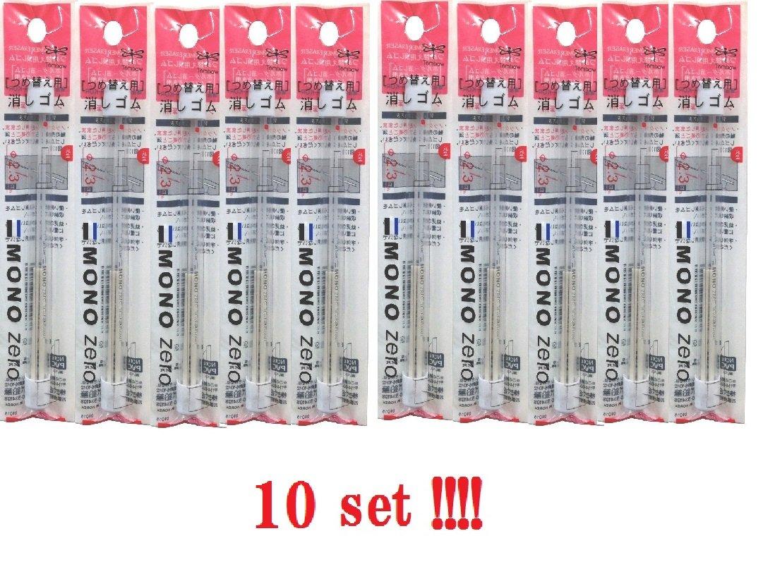 10-packs Tombow Mono Zero Eraser refill ER-KUR Round Tip 10-packs from Japan by Tombow (Image #1)