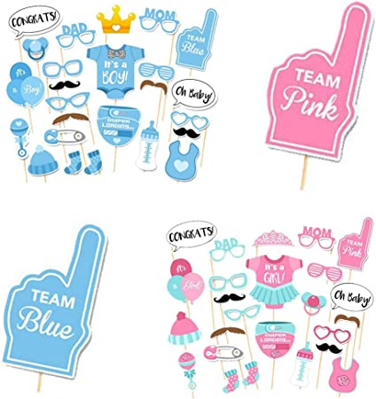 2 Pack Baby Shower Decoraciones Kit de Photo Booth props para niña ...