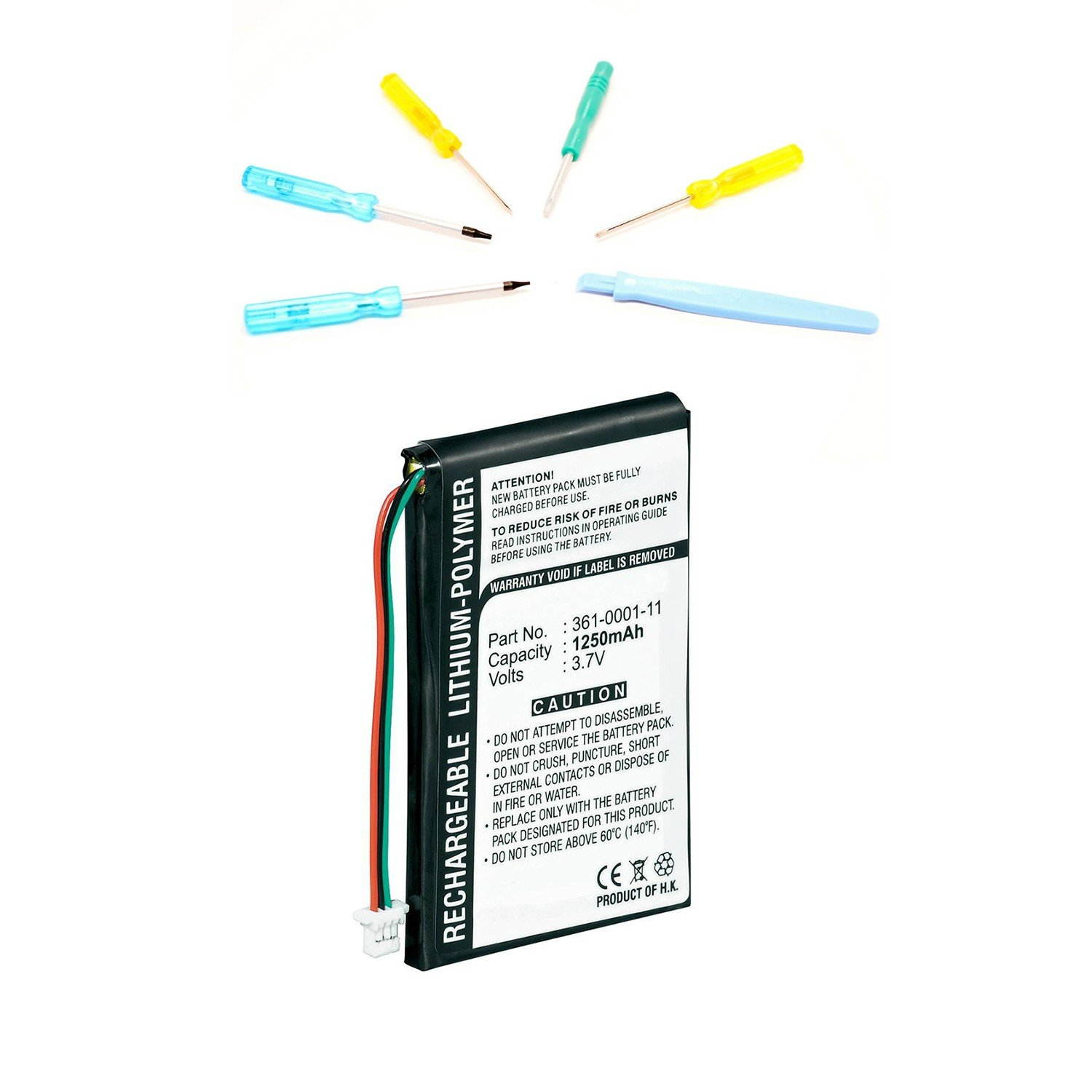 Replacement Battery with Tools for Garmin Nuvi 200, 205, 250, 252, 255, 260, 265, 270 GPS Navigators - Olympia Battery brand