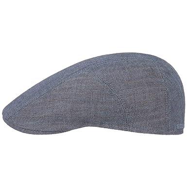 Stetson Herringbone Linen Flat Cap Men  9ba3d785e47