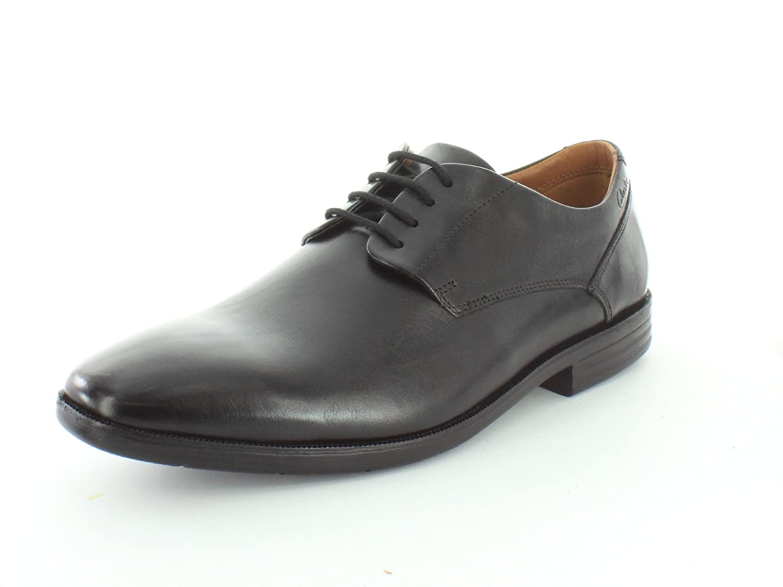 svart svart svart läder Clarks Glenrise Walk  låg 40% pris