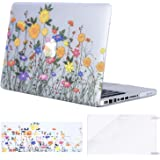 Mosiso Plastic Pattern Hard Case with Keyboard Cover with Screen Protector Only for Old MacBook Pro 13 Inch with CD-ROM (A1278, Version Early 2012/2011/2010/2009/2008), Sunflower