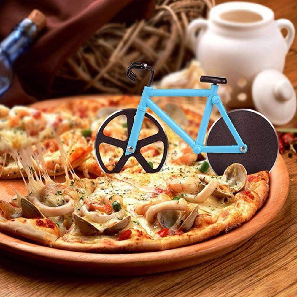 Cortador Pizza Bicicleta, Rodillo de la Pizza Del Acero Inoxidable ...