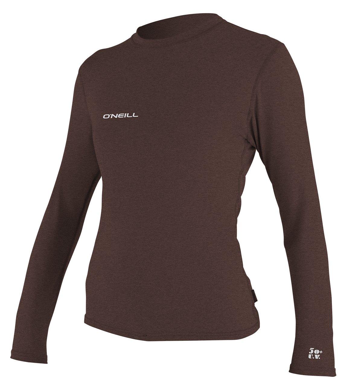 O'Neill Women's Hybrid UPF 50+ Long Sleeve Sun Shirt, Pepper, X-Small by O'Neill Wetsuits