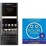 【日本正規代理店品】BlackBerry Priv Black Android SIMフリースマートフォン ブラックベリー 32GB スライド QWERTY キーボード caseplay FOX PRD-60028-037 & BIGLOBE エントリーパッケージセット