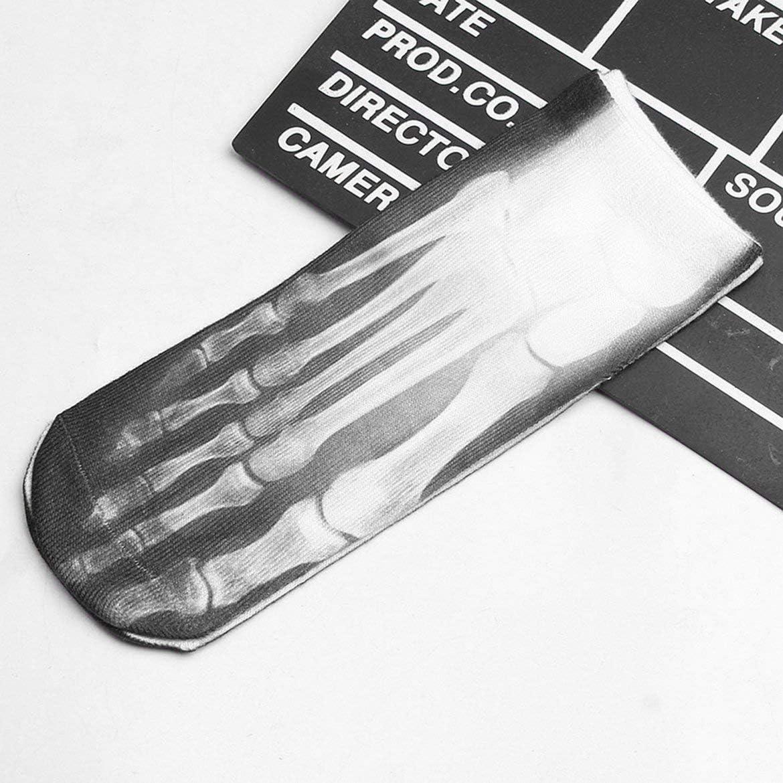 3D Printing Meat Skeleton Diverse Patterns Socks Elastic Boat Socks Creative Personality Comfortable Funny Sock for Female