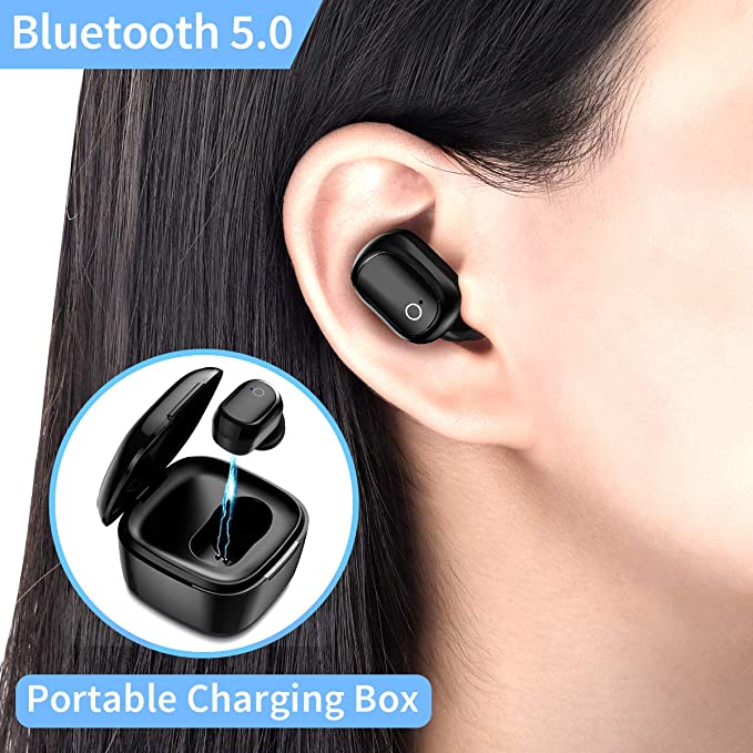 Wireless Earphones,Wireless Sports Bluetooth Earphone/Stereo-Ear Mini Sweatproof Headphones with Noise