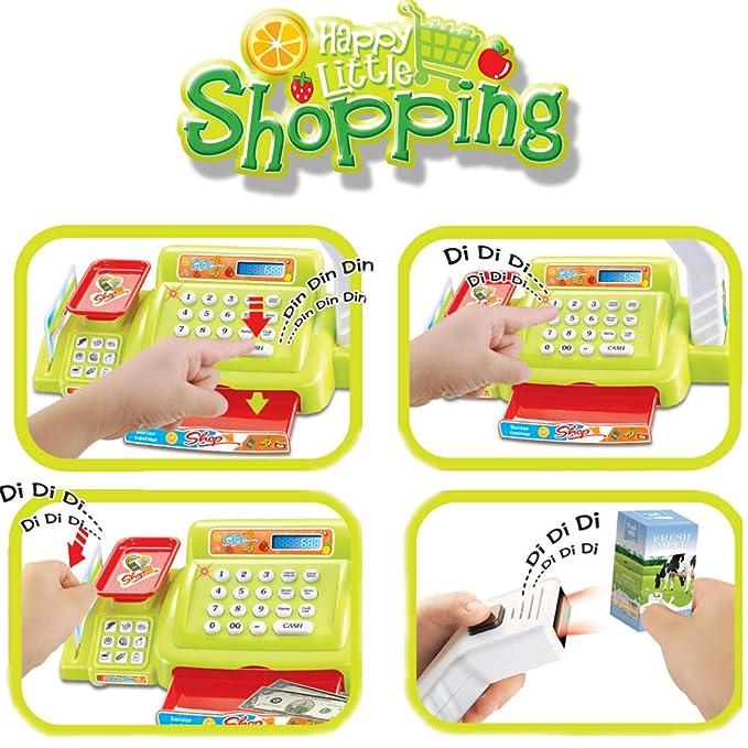 Amazon.com: LtrottedJ 23Pcs Childrens Toy Cash Register Set, Play Money, Grocery Toy Cash Register: Toys & Games