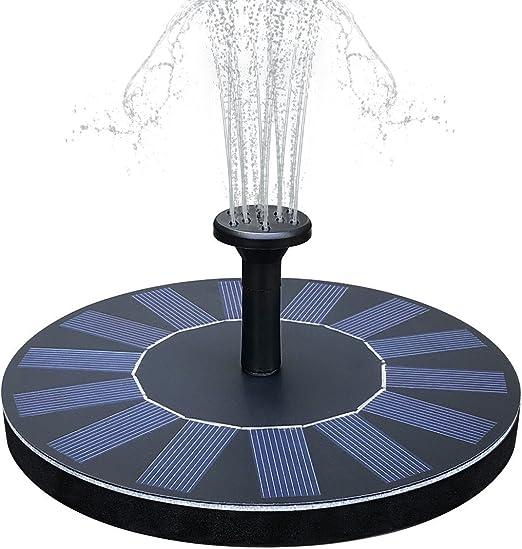 Yaogroo Bomba de Fuente Solar, Bomba de Fuente de Agua con Energía Solar Kit de Panel Bomba Sumergible al Aire Libre para Estanque, Piscina, Patio, Acuario, Tanque de Peces: Amazon.es: Jardín