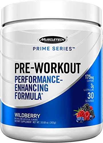 Muscletech Pre Workout Powder for Men Women, Enhanced Energy Supplement for Better Workouts, Wildberry, 30 Servings 303g – Amazon Exclusive