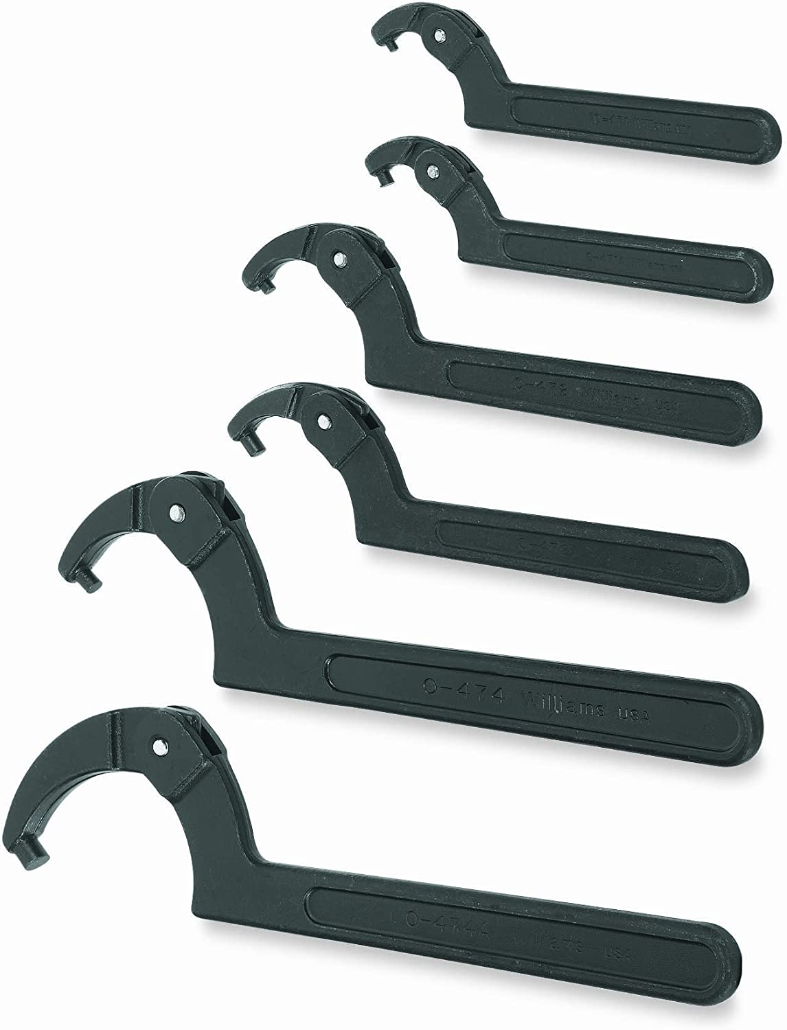 Williams WS-483 3-Piece Adjustable Face Spanner Wrench Set Snap-on Industrial Brand JH Williams