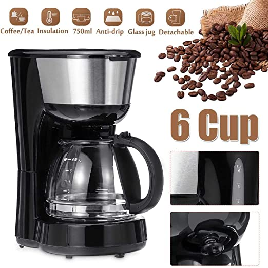 ZhiWei Cafetera de Goteo de 6 Tazas, máquina de cafetera Que ...