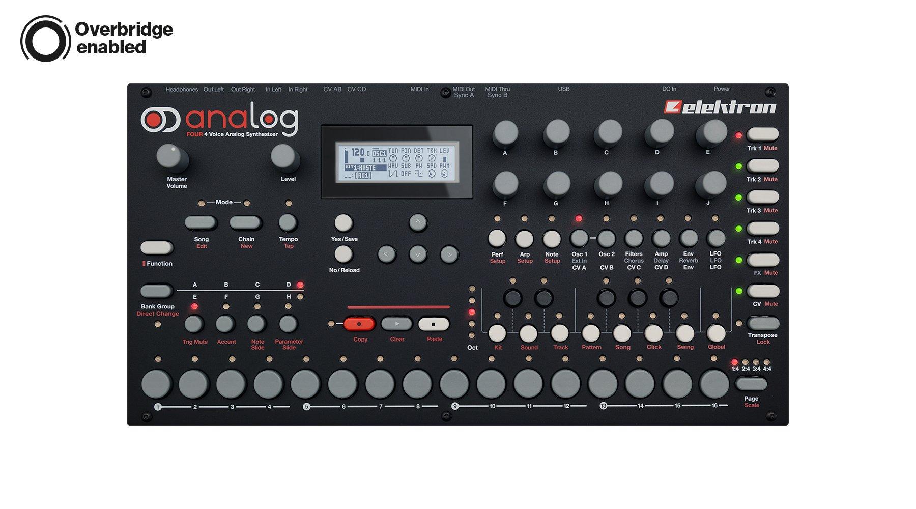 Elektron Analog Four Tabletop Synthesizer by Elektron
