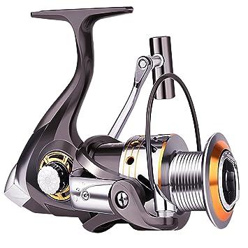 9b9d7b1eec0 Moulinet de pêche Sougayilang avec gauche et droite interchangeables,  poignée repliable, 12 + 1